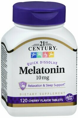 MELATONIN 10MG QUICK DISSOLVE TAB 120CT