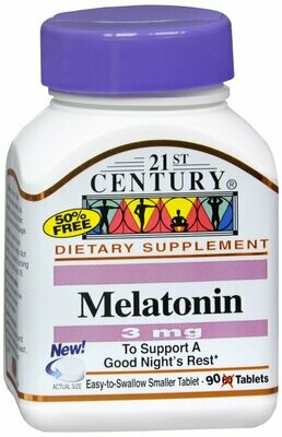 MELATONIN 3MG TABLET 90CT