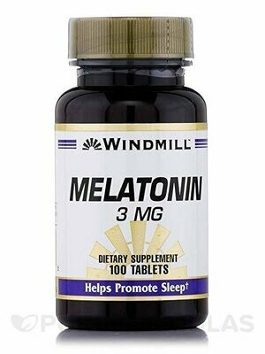 Windmill Melatonin 3 Mg Tabs 100ct