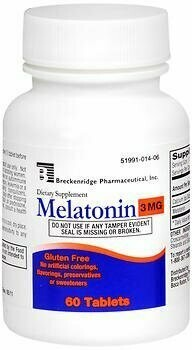 Breckenridge Melatonin 3 mg - 60 Tablets