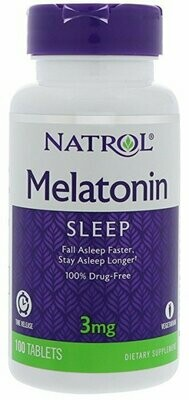 Natrol Melatonin Time Release, 3 mg, 100 Tablets