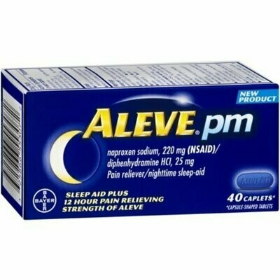 Aleve PM Pain Reliever Nighttime Sleep-Aid Caplets, 40 each