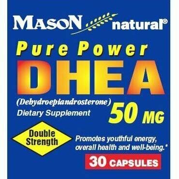 Mason Vitamins DHEA 50 mg Capsules, 30-Count