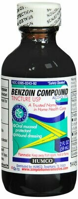 BENZOIN COMPOUND TINCTURE USP 2OZ HUMCO