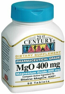 MAGNESIUM OXIDE 400MG TABLET 90CT