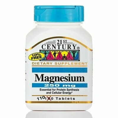 21st Century Magnesium 250 mg Tablets, 110 Count
