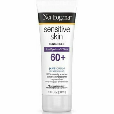 Neutrogena Sensitive Skin Sunscreen Lotion SPF 60+ 3 oz