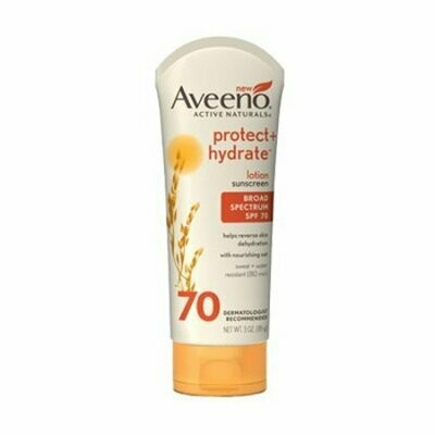 Aveeno Active Naturals Protect Plus Hydrate Sunscreen Lotion, Spf 70 - 3 Oz