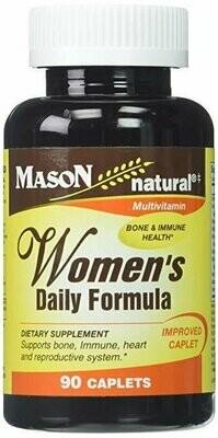 Mason Vitamins Women's Daily Formula Caplets, 90 Count