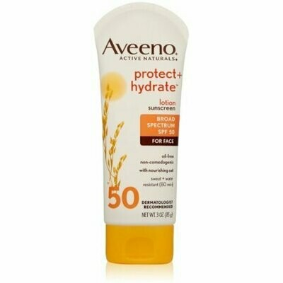 AVEENO Active Naturals Protect + Hydrate Lotion Sunscreen SPF 50 3 oz