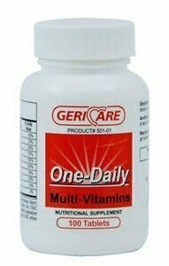 GeriCare Once Daily Multi Vitamins Tablet 100 ct