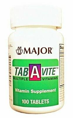 Major TAB-A-Vite Multiple Vitamins TABS ASCORBIC ACID-60 MG 24 Tablets