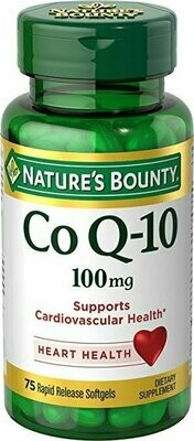 Nature's Bounty Co Q-10 100 mg, 75 Softgels