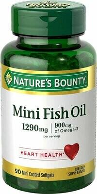 Nature's Bounty Fish Oil 1290 mg, 90 Mini Odorless Softgels