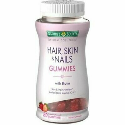 Nature's Bounty Hair, Skin & Nails Gummies With Biotin - 80 CT