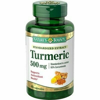 Nature's Bounty Standardized Extract Turmeric 500 mg Capsules 45 each