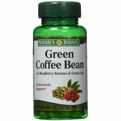 Nature's Bounty Green Coffee Bean with Raspberry Ketones & Green Tea Capsules, 60 each