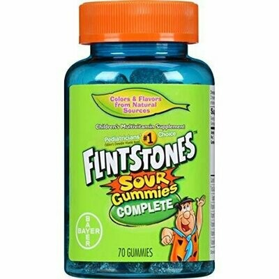 Flintstones Complete Multivitamin Sour Gummies, 70 Count
