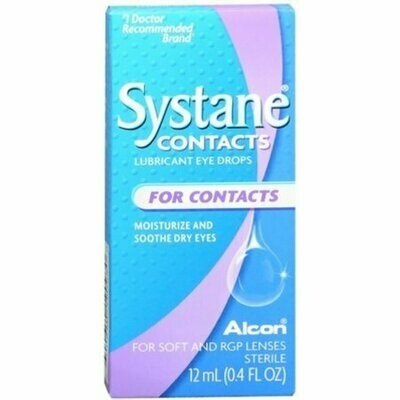 Systane Contacts Lubricant Eye Drops Soothing Drops 12 mL