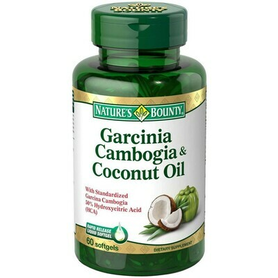 Nature's Bounty Garcinia Cambogia & Coconut Oil Dietary Supplement Softgels, 60 count