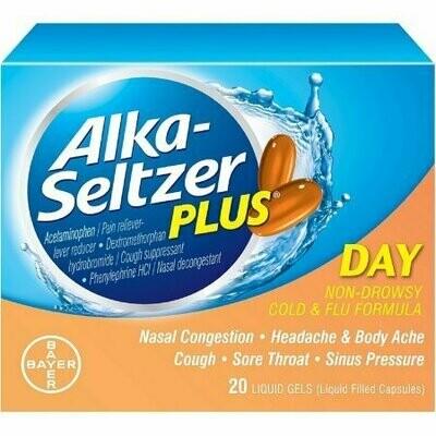 Alka-Seltzer Plus Day Cold and Flu Liquid Gels 20 each