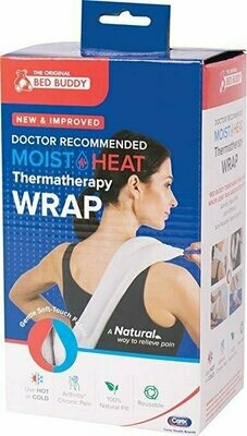 Carex Bed Buddy Hot/Cold Wrap, Hot and Cold Therapy Wrap with Rope Handles, Natural Grain Filling, for Treating Sore Muscles and Joints