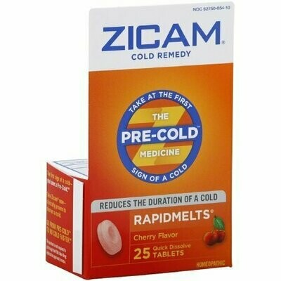 Zicam Cold Remedy RapidMelts, Cherry 25 each