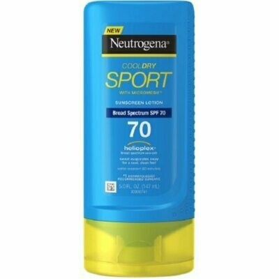 Neutrogena CoolDry Sport Sunscreen Lotion, SPF 70 5 oz