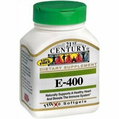 21St Century Vitamin E - 400 Iu Softgels - 110 Ea