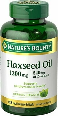 Nature's Bounty Flaxseed Oil 1200 mg, 125 Rapid Release Softgels
