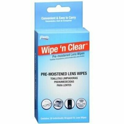 Flents Wipe 'N Clear Premoistened Tissues 20 Pack