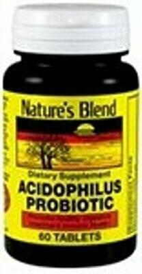 Nature's Blend Acidophilus Probiotic 60 Tablets