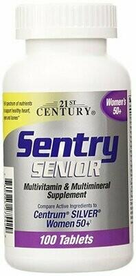 21st Century Sentry Senior Women 50 Plus Tablets, 100 Count