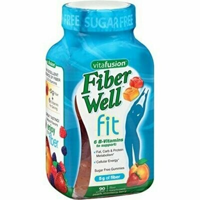 Vitafusion FiberWell Fit Gummies, Peach, Strawberry & Berry, 90 Each