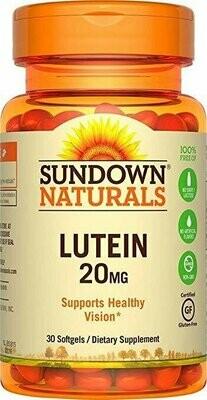 Sundown Naturals�� Lutein 20mg, 30 Softgels
