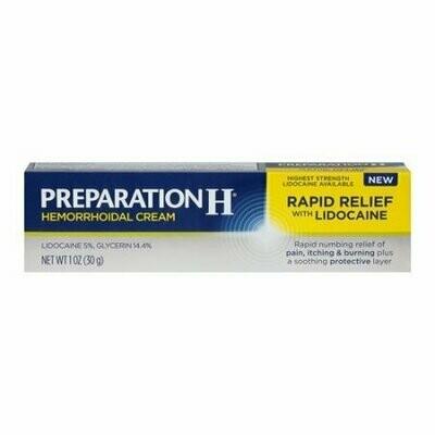 Preparation H Rapid Pain Relief Hemorrhoidal Cream, 1 Oz