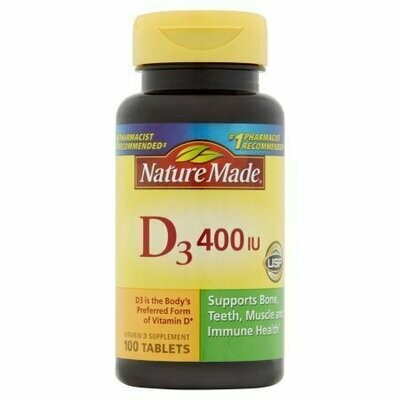 Nature Made D3 Tablets, 100ct
