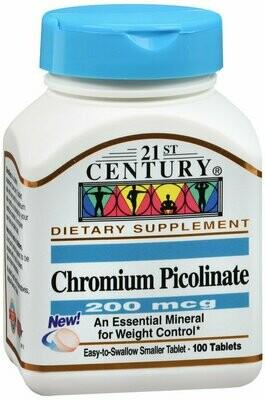 CHROMIUM PICOLINATE 200 MCG 100CT