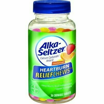 Alka-Seltzer Heartburn ReliefChews Chewable Tablets, Assorted Fruit 36 each