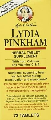 Lydia Pinkham Herbal Supplement, Tablets, 72 Count