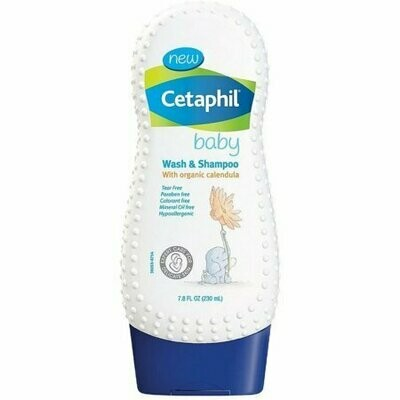 Cetaphil Baby Wash & Shampoo, Organic Calendula 7.8 oz
