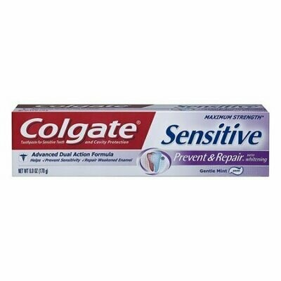 Colgate Sensitive Prevent & Repair Toothpaste With Whitening, 6 oz