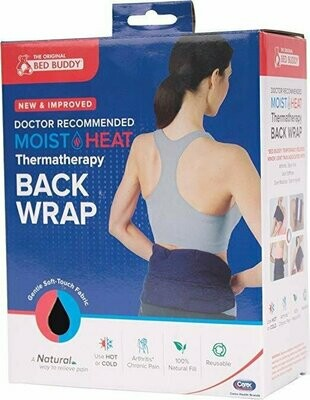 Carex Bed Buddy Back Wrap, Hot & Cold Therapy Targeted Natural Relief for Lower Back Neck Shoulders Arms Legs Knees, Reusable and Filled with 100% Natural Grains