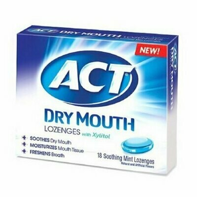 Act Total Care Dry Mouth Lozenges, Soothing Mint - 18 Each