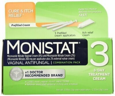 MONISTAT 3 CREAM COMBO PACK