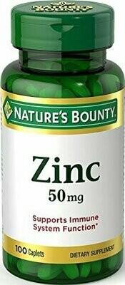 Nature's Bounty Zinc 50 mg Caplets 100 each