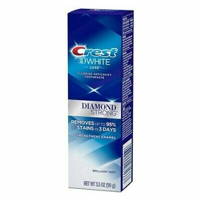Crest 3D White Luxe Diamond Strong Toothpaste, Brilliant Mint, 3.5 Oz