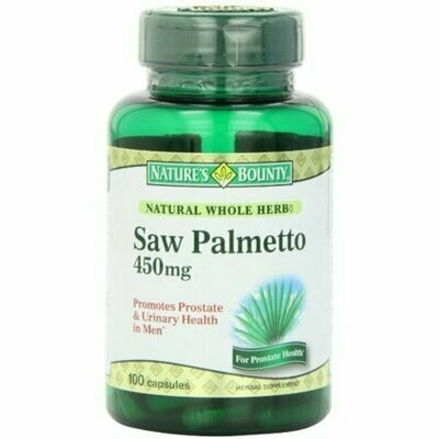 Nature's Bounty Saw Palmetto 450 mg Capsules 100 each