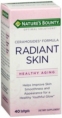 Nature's Bounty Optimal Solutions Radiant Skin Ceramocides, 40 Softgels