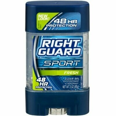 Right Guard Sport 3D Odor Defense, Anti-Perspirant Deodorant Clear Gel, Fresh 3 oz